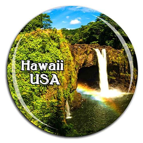 Weekino Akaka Falls State Park Hilo Hawaii Amerika USA Kühlschrankmagnet 3D Kristallglas Tourist City Travel Souvenir Sammlung Geschenk Stark Kühlschrank Aufkleber