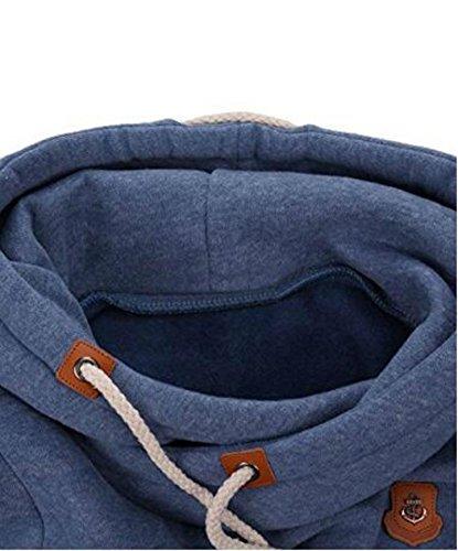 D-Pink Bubblemaul Female Hoody Manteau d'hiver Sweatshirt a Capuche épais Hoodie Slim Fit Casual Pullover Coton Sweater Bleu
