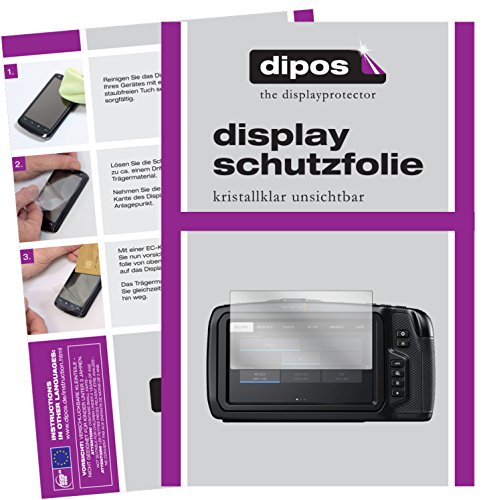 dipos I 6X Schutzfolie klar passend für Blackmagic Pocket Cinema 4K Folie Displayschutzfolie (Blackmagic Pocket Cinema Kamera)