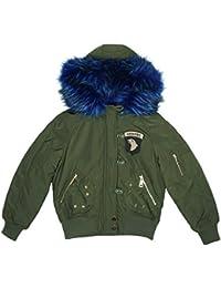 Filles Airborne Doublure Fausse Fourrure Blouson Capuche Veste Combat Manteau tailles de 5 pour 16 An