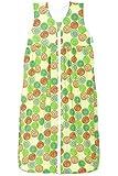 Odenwälder Jersey-Schlafsack Anni, Größe:70, Design:Kringel grün