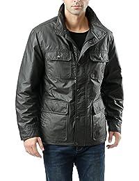 BGSD Luxury Lane Men's Outdoor Waterproof Field Jacket - Charcoal L