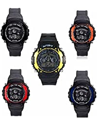 ROKCY Analogue Multi-Colour Dial Children's Combo Of 5 Watch -7 Light All 5 Color Watch - For Boys