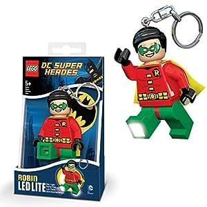 DC Comics officiel Lego Super-héros De Robin nouvelle LED porte-clés lumineux Porte-clé Torche