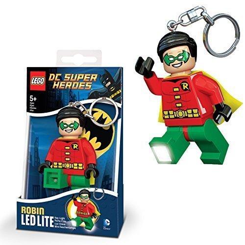 DC Comics offizielle Lego Robin Superhelden Neue LED Licht Schlüsselanhänger Taschenlampe Schlüsselanhänger