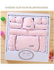 SHISHANG Ensemble de 20 pièces Ensemble de cadeaux pour bébés Boîte cadeau Boy Girl Cadeaux pour bébés pour 0-6Months Nouveau-né 100% coton Four Seasons Gift Bag Full Moon Gift Box , 2