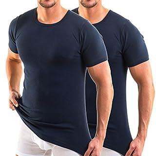 HERMKO 3840 2er Pack kurzarm Shirt (Weitere Farben), Farbe:marine, Größe:D 8 = EU XXL
