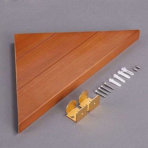 XGMSD Saunabad Eckablage High-End-europäischen Stil Aus Holz WC-Racks Bad-Accessoires Stativ Handtuchhalter Bad Rack Bad Rack