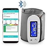MedX5 Bluetooth Oberarm Blutdruckmessgerät mit Gratis App für iOS und Android, kabelloses Blutdruckmesser mit Herzfrequenz-Erkennung