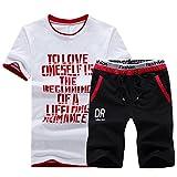 Hombre Cuello Redondo Camiseta De Manga Corta Pantalones Cortos Deportivos Casual Chándal 2 Piezas