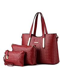 Alidear Moda Mujeres Bag Bolsos bandolera Mutil Function Bag Crossbody Bag Tote Carteras de mano Pu Set de…