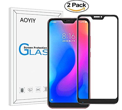 Price comparison product image Full Screen-Xiaomi Redmi 6 Pro / XiaoMi Mi A2 Lite [Crystal Clear][9H Hardness][Scratch Resist] Smartphone Glass Screen Protector-Black[2 Pack]