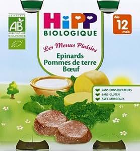 HiPP - Petit pot : Epinards-Pomme de terre-Boeuf - dès 12 mois