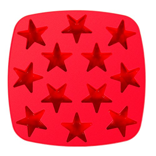 kitchen-haven-silicone-ice-cube-tray-jelly-crafts-mould-12-cavity-star-red