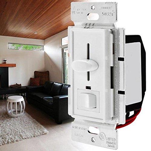 Global LUSTREON AC120V 600W 3 way LED Slide Dimmer Wandschalter für dimmbare Glühlampen - Dimmer Slide Licht