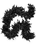 Boa à plume pour déguisement Noir