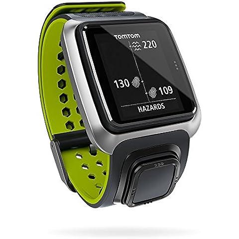 TomTom Golfer - Reloj para golf con GPS, color gris oscuro y verde claro