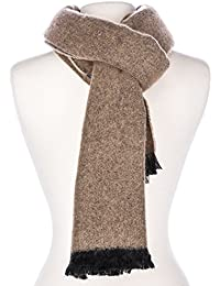 Noble Mount Mens Rochester Two-Tone Reversible Winter Scarf