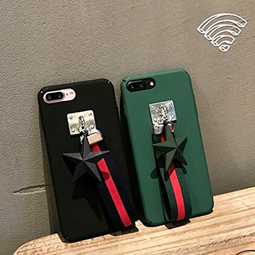 PU-lederner Stern Pandent schützender rückseitiger Abdeckungs-Fall mit Tuch-Abzuglinie für iPhone 7 Plus by diebelleu ( Color : Army green ) Army green
