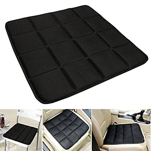 Bamboo Charcoal Breathable Seat Cushion Coque Pad Mat pour voiture Office Chair Black