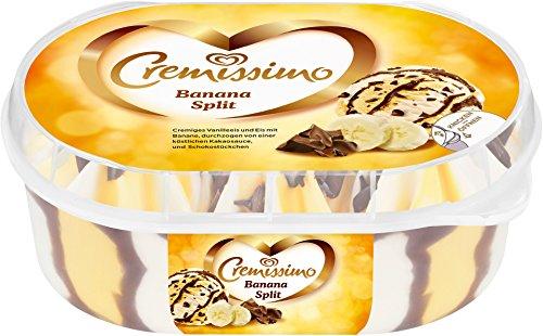 Langnese - Cremissimo Banana Split Bananeneis Vanilleeis Schokolade Eisbecher Speiseeis Eiscreme TK - 0,9l