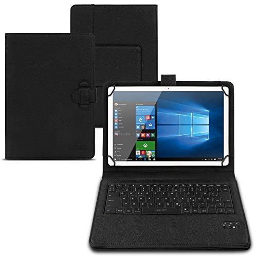 NAUC® Wireless Bluetooth Teclado Keyboard Funda Tablet