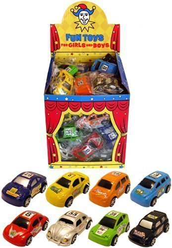 8 Pull Back Cars Toys / 8 Designs / Boys Party Bag Fillers / Lucky Dip Kids
