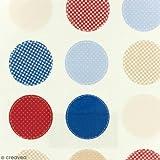 Stoff fryett' S Wachstuch–Rund blauen, roten,