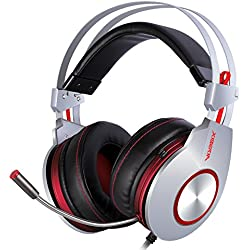 XIBERIA K5 Over-Ear USB Casque Gaming Headset Pro Comfortable pour PC avec Son Surround Microphone Flexible