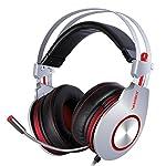 Gaming Headset,XIBERIA K5 USB Headset,Komfortable Kopfhörer, Over-Ear Kopfhörer mit Surround Sound flexiblem Mikrofon für PC, Laptop, Tablet