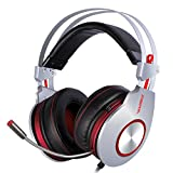 Gaming Headset,XIBERIA K5 USB Headset,Komfortable Kopfhörer, Over-Ear Kopfhörer mit Surround Sound flexiblem Mikrofon für PC, Laptop, Tablet