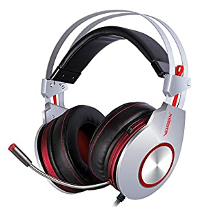 XIBERIA K5 Gaming Headset Surround Sound Over-Ear Kopfhörer mit Mikrofon für PC, PS4, Xbox One, iPhone, Samsung