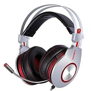 XIBERIA K5 Cuffie Confortevole con USB Sopra-Orecchie Auticolari per Gaming Professionale di PC con Audio Circondare con Microfono Flessibile