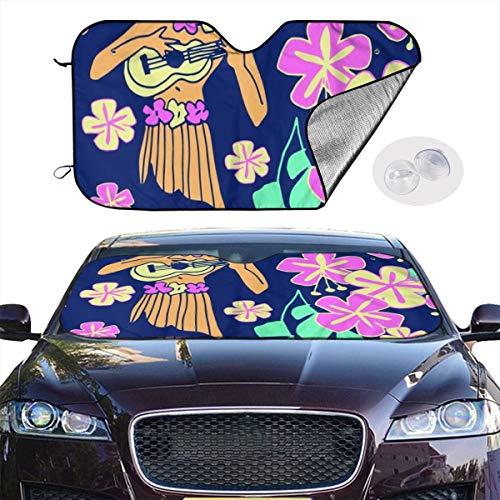 ield Sun Shade Luau Keep Your Vehicle Cool UV Sun Heat Reflector 51.2x27.5 Inchs ()