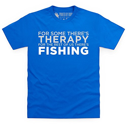 Fishing Therapy T-Shirt, Herren Royalblau