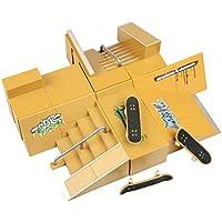 WayIn® 8pcs Skate Park Kit Piezas de rampa para Tecnología de Cubierta diapasón Mini patín del dedo Fingerboards Parques Ultimate