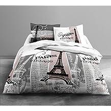 today hc4 coton 57 fils enjoy vintage paris parure de lit 2 personnes enjoy dessin vintage - Parure De Lit 240x260