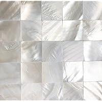 Tile 4 You Genuine WHITE MOTHER OF PEARL Shell Mini Quadratisch Nahtlos  Mosaik Fliese Für Küche
