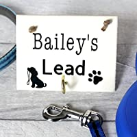 MadeAt94 Dog Pet Lead Holder Personalised Walking Wall Hanger