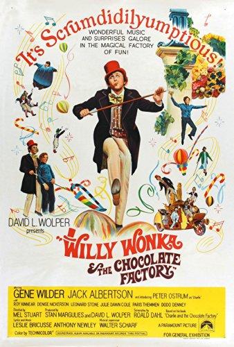 Willy Wonka e la fabbrica di Chocoalte Movie Poster Stampa dimensioni 30,5x 20,3cm