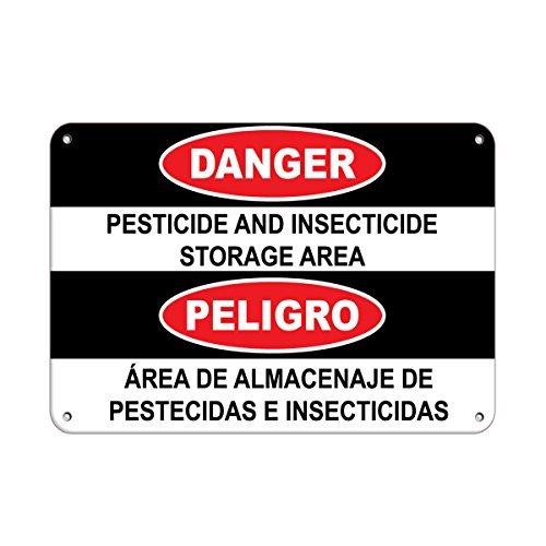 THshang Metallschild, personalisierbar, Motiv: Danger Pestizid und Insektizid, Aluminium, 25,4 x 35,6 cm