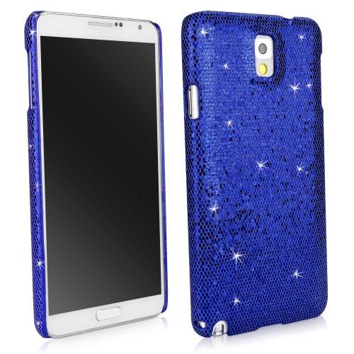 BoxWave Glamour & Glitz Samsung Galaxy Note 3Fall schmalem Backcover Schutzhülle mit Glitter Sparkle Bling Design-Samsung Galaxy Note 3Fällen (Saphir Blau) (Für 3 Fall Note Jeweled)
