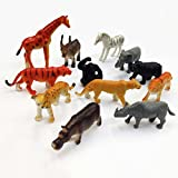 #1: Vibgyor Vibes Wild Animals Figures Set for Kids/Young ones pack of 10 animals Like Lion, Giraffe, Bear, Hippo, Wolf, Fox, Cow, Deer, Dog ,Crocodile, Zebra, Camel (Small Size) (Multi Colour, Animals may Vary Pack to Pack)