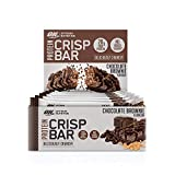 Optimum Nutrition Protein Crisp Bar- Riegel (mit 20g Eiweiß [enthält Whey Isolate], ohne Zuckerzusatz) Chocolate Brownie, 1er Pack(1 x 650 g)