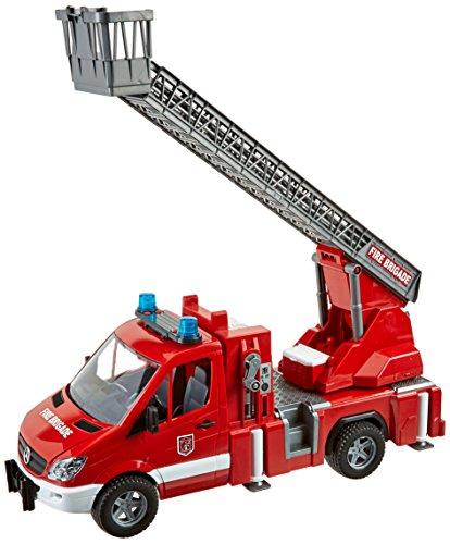 feuerwehr spielzeug bruder Sprinter Feuerwehr mit Drehleiter, Wasserpumpe, Stützen und Signalanlage
