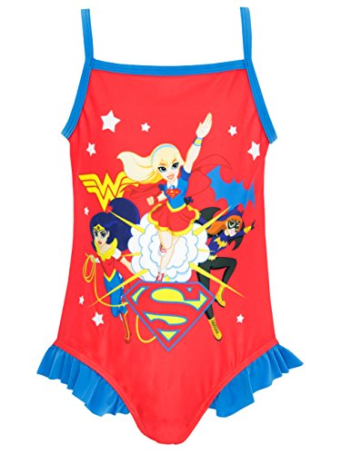DC Super Hero Mädchen DC Superhero Badeanzug 152 (Womens Hero Kostüme)