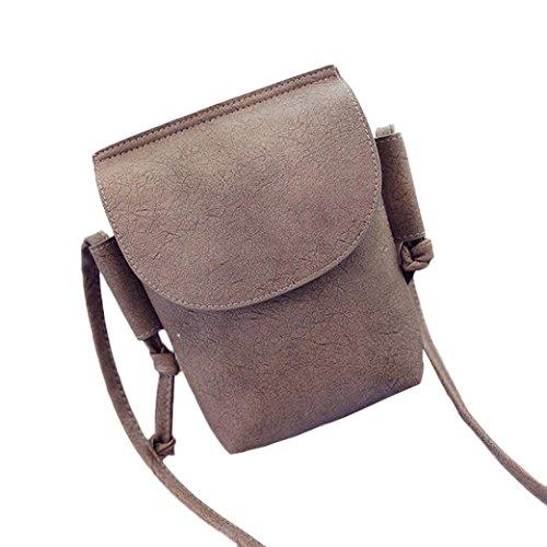Transer  PU leather Handbags & Single Shoulder Bags Women Zipper Bag Girls Hand Bag, Damen Schultertasche khaki 14cm(L)*21(H)*4cm(W) khaki