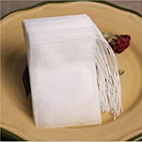 Macxy - Teabags 100Pcs/Lot 5.5 x 7CM Empty Tea Bags With String Heal Seal Filter Paper for Herb Loose Tea