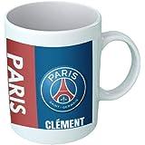 Mug tasse personnalisé PSG et prénom - Cadeau personnalisé pour les amateurs de foot - Tasse personnalisable et originale