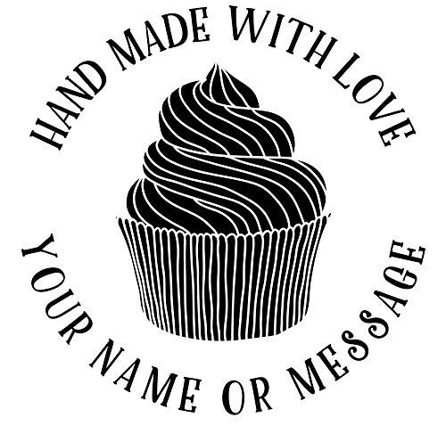 Realizzato a mano da timbro personalizzato-cupcake